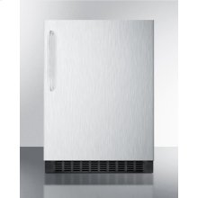 Built-in Undercounter All-refrigerator for Residential or Commercial Use, Frost-free W/stainless Steel Wrapped Exterior and Towel Bar Handle