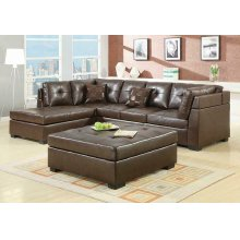 Darie Casual Brown Sectional