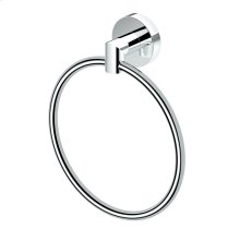 Glam Towel Ring in Chrome