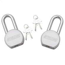 "Padlock  2"" Shakle Steel Round Padlock 2-pack - No Finish"