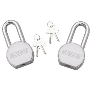 "Padlock  2"" Shakle Steel Round Padlock 2-pack - No Finish Product Image"