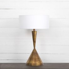 Clement Table Lamp-charcoal