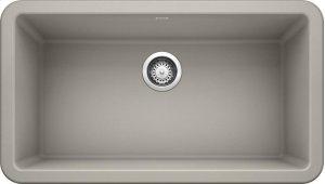 "Blanco Ikon® 33"" Apron Front - Concrete Gray Product Image"