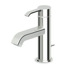 "Single lever basin mixer with aerator, 1 1/4"" pop-up waste, flexible tails."