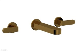 ROND Wall Lavatory Set - Lever Handles 183-12 - French Brass Product Image
