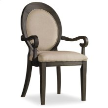 Dining Room Corsica Dark Oval Back Arm Chair