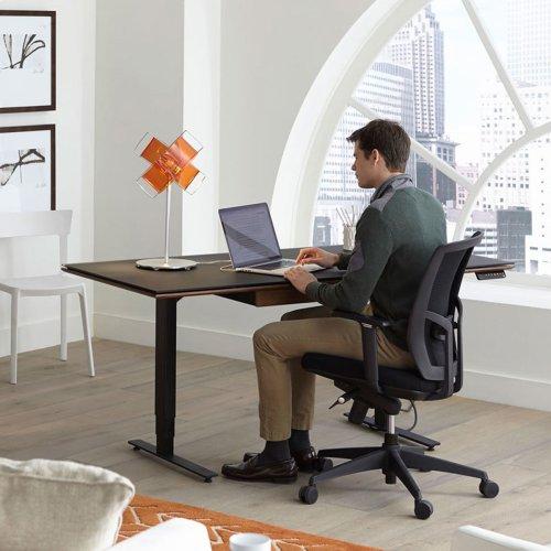Lift Standing Desk 66 X 30 Top 6052 in Espresso