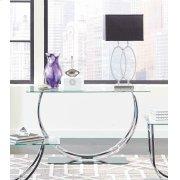 Contemporary Chrome Sofa Table Product Image