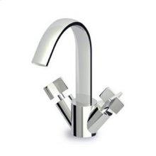 Single hole bidet mixer, fixed spout with antisplash, flexible tails.