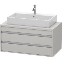 Ketho Vanity Unit For Console, Concrete Gray Matte (decor)
