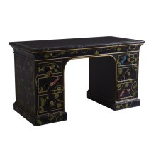 Enchantment Hand-Painted Double Pedestal Desk
