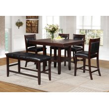 Allison Counter Height Pub Table with Lazy Susan