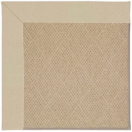 Creative Concepts-Cane Wicker Canvas Antique Beige Machine Tufted Rugs