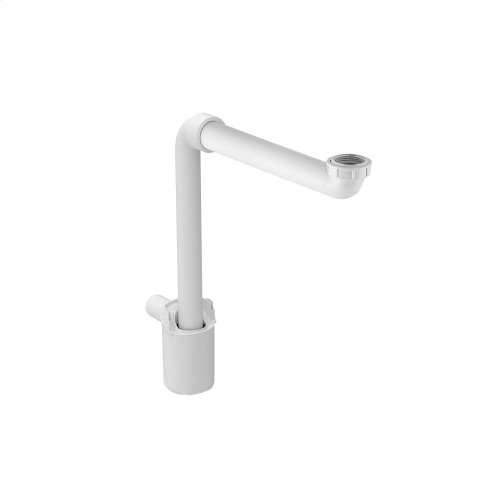 """Lavatory Sink Traps for wall mounted vanities Molded plastic - White Material - Finish 1-9/16"""" (40 mm) Outlet Tube Size G1-1/4"""" Sink Connection Thread"""