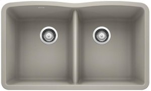 Blanco Diamond Equal Double Bowl - Concrete Gray Product Image