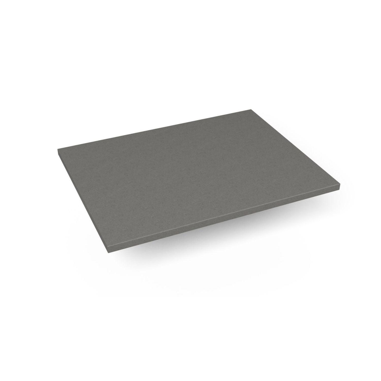 """Engineered Stone 25"""" X 19"""" X 3/4"""" Quartz Dry Vanity Top In Stone Gray"""