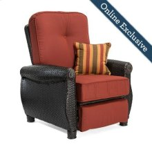 Breckenridge Patio Recliner, Brick Red