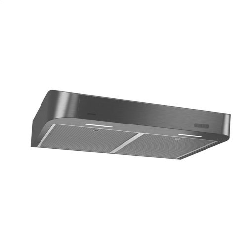 Antero 30-Inch 250 CFM Black Stainless Steel Range Hood with LED light