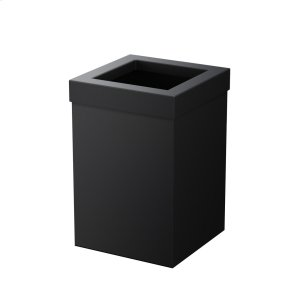 Square Modern Waste Basket in Matte Black Product Image