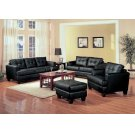 Samuel Transitional Black Ottoman Product Image