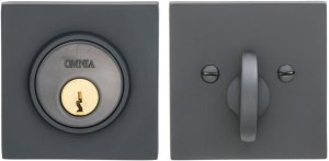 Square Auxiliary Deadbolt Kit in (US10B Oil-rubbed Bronze, Lacquered) Product Image