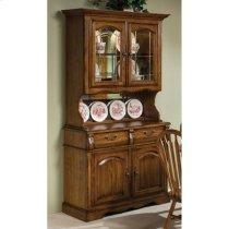 Classic Oak Burnished Small China Cabinet Product Image
