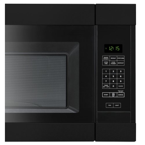 1.6 Cu. Ft. AOver-the-Range Microwave with Add 0:30 Seconds Black