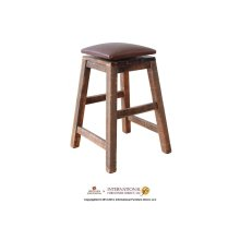 "24"" Swivel Stool - with Faux Leather seat"