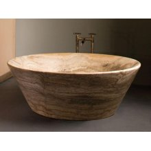 Siena Tazza Bathtub Silver Travertine