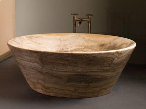 Siena Tazza Bathtub Silver Travertine Product Image
