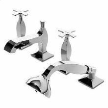 4 hole bath-mixer, pull out shower, 1500 mm flexible hose.