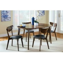 Malone Mid-century Modern Round Five-piece Dining Set