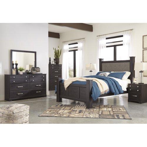 Reylow - Dark Brown 3 Piece Bed Set (Queen)