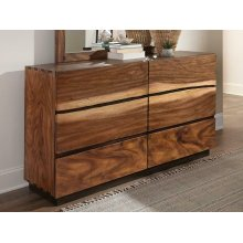 Rustic Smoky Walnut Dresser
