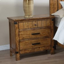 Brenner Rustic Honey Nightstand