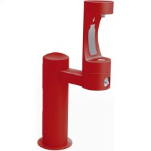 Elkay Outdoor EZH2O Bottle Filling Station Pedestal, Non-Filtered Non-Refrigerated Freeze Resistant Red