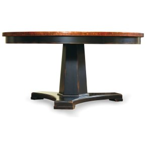 Dining Room Sanctuary 48 in Round Pedestal Dining Table - Ebony & Copper