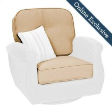 Breckenridge Patio Swivel Rocker Replacement Cushion Set, Natural Tan