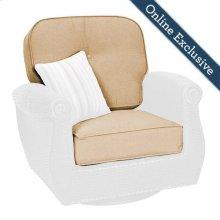 Breckenridge Patio Swivel Rocker Replacement Cushion Set, Natural Tan