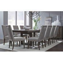 Facets Rectangular Double Pedestal Table