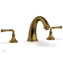 COINED Deck Tub Set - Lever Handles 208-40 - French Brass