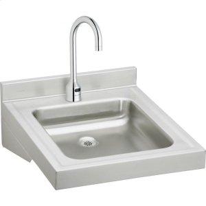 "Elkay Sturdibilt Stainless Steel 19"" x 23"" x 4"", Wall Hung Single Bowl Lavatory Sink Kit Product Image"