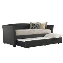 Morgan Daybed With Trundle, Onyx Linen