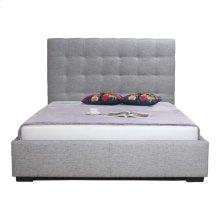 Belle Storage Bed Queen Light Grey Fabric