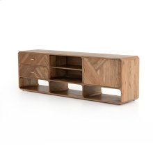 Caspian Media Console-natural White Ceda