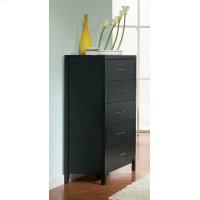 Grove Black Five-drawer Chest Product Image
