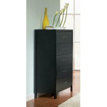 Grove Black Five-drawer Chest