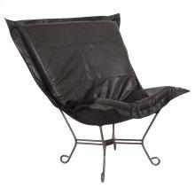 Scroll Puff Chair Avanti Black Titanium Frame