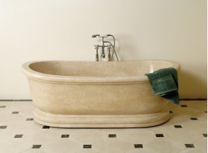 Old World Bathtub Papiro Cream Marble Product Image
