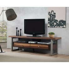 Industrial Walnut TV Console